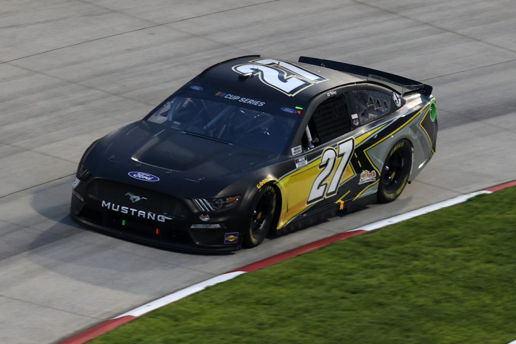 MARTINSVILLE, VIRGINIA - JUNE 10: JJ Yeley, driver of the #27 Ford, drives during the NASCAR Cup Series Blue-Emu Maximum Pain Relief 500 at Martinsville Speedway on June 10, 2020 in Martinsville, Virginia. (Photo by Rob Carr/Getty Images) | Getty Images