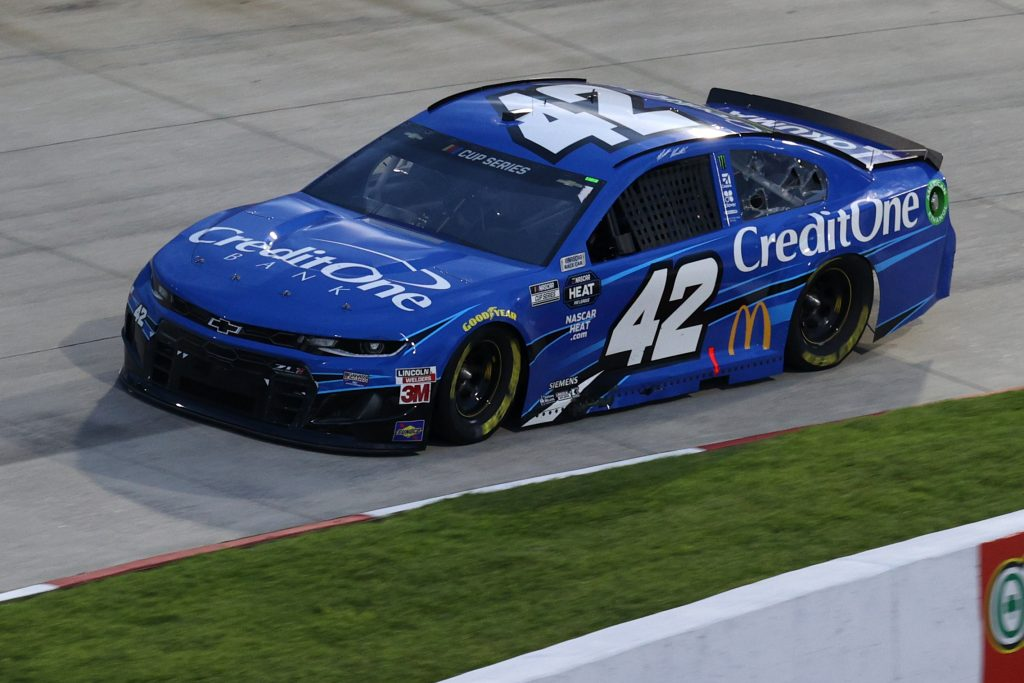 MARTINSVILLE, VIRGINIA - JUNE 10: Matt Kenseth, driver of the #42 Credit One Bank Chevrolet, drives during the NASCAR Cup Series Blue-Emu Maximum Pain Relief 500 at Martinsville Speedway on June 10, 2020 in Martinsville, Virginia. (Photo by Rob Carr/Getty Images) | Getty Images