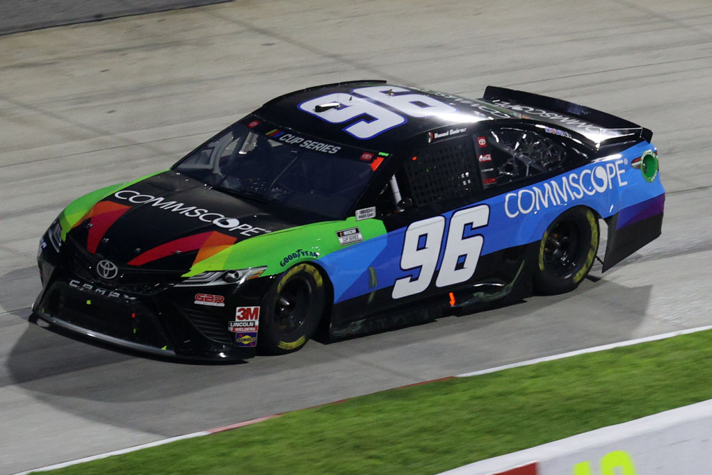 MARTINSVILLE, VIRGINIA - JUNE 10: Daniel Suarez, driver of the #96 CommScope Toyota, drives during the NASCAR Cup Series Blue-Emu Maximum Pain Relief 500 at Martinsville Speedway on June 10, 2020 in Martinsville, Virginia. (Photo by Rob Carr/Getty Images) | Getty Images