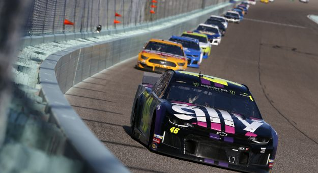 HOMESTEAD, FLORIDA - NOVEMBER 17: Jimmie Johnson, driver of the #48 Ally Chevrolet, leads a pack of cars during the Monster Energy NASCAR Cup Series Ford EcoBoost 400 at Homestead Speedway on November 17, 2019 in Homestead, Florida. (Photo by Brian Lawdermilk/Getty Images) | Getty Images