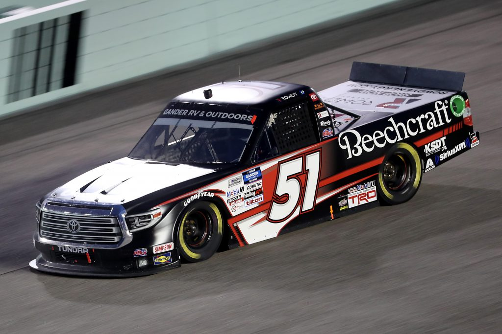 HOMESTEAD, FLORIDA - JUNE 13: Kyle Busch, driver of the #51 Cessna Toyota, races during the NASCAR Gander RV & Outdoors Truck Series Baptist Health 200 at Homestead-Miami Speedway on June 13, 2020 in Homestead, Florida. (Photo by Chris Graythen/Getty Images) | Getty Images