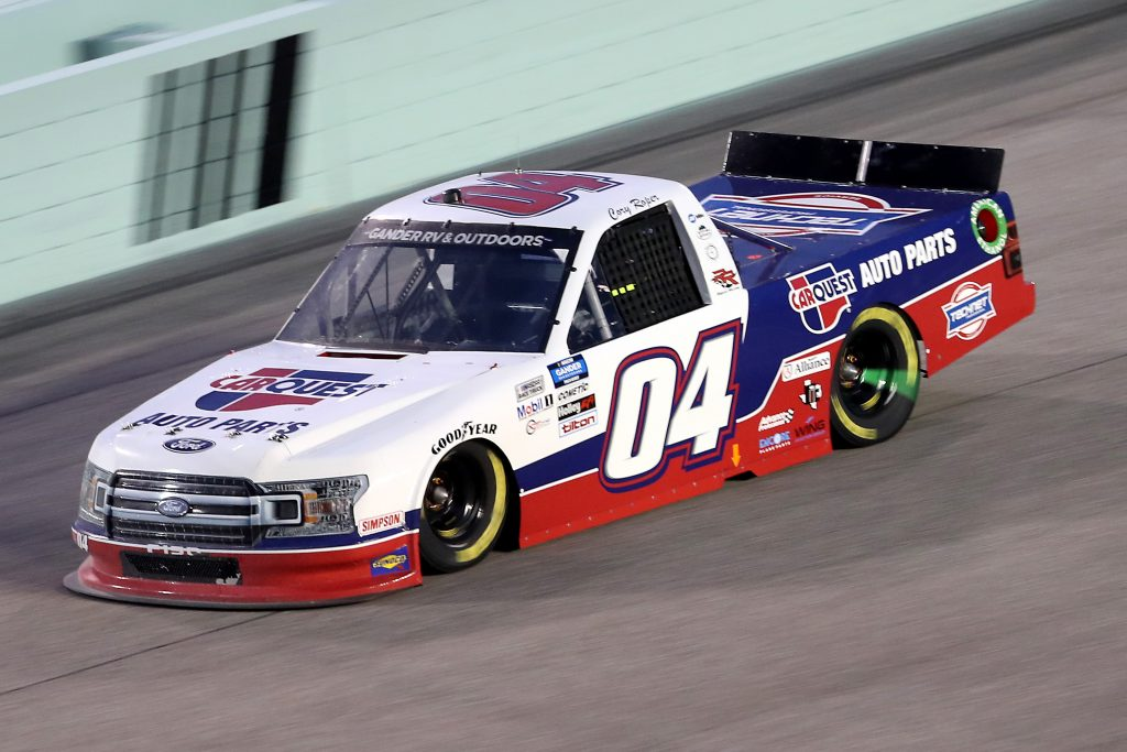 HOMESTEAD, FLORIDA - JUNE 13: Cory Roper, driver of the #04 CarQuest Ford, races during the NASCAR Gander RV & Outdoors Truck Series Baptist Health 200 at Homestead-Miami Speedway on June 13, 2020 in Homestead, Florida. (Photo by Chris Graythen/Getty Images) | Getty Images