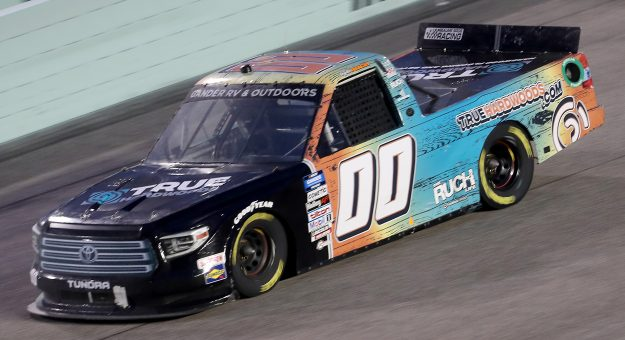 HOMESTEAD, FLORIDA - JUNE 13: Angela Ruch, driver of the #00 TrueHardwoods.com Toyota, races during the NASCAR Gander RV & Outdoors Truck Series Baptist Health 200 at Homestead-Miami Speedway on June 13, 2020 in Homestead, Florida. (Photo by Chris Graythen/Getty Images)   Getty Images