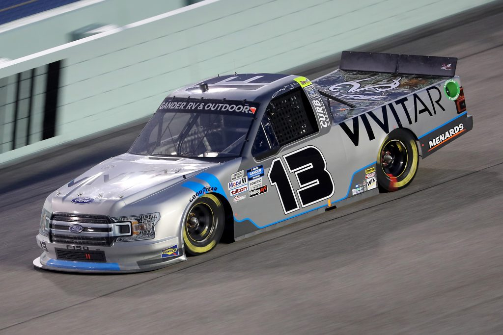 HOMESTEAD, FLORIDA - JUNE 13: Johnny Sauter, driver of the #13 Vivitar Ford, races during the NASCAR Gander RV & Outdoors Truck Series Baptist Health 200 at Homestead-Miami Speedway on June 13, 2020 in Homestead, Florida. (Photo by Chris Graythen/Getty Images) | Getty Images