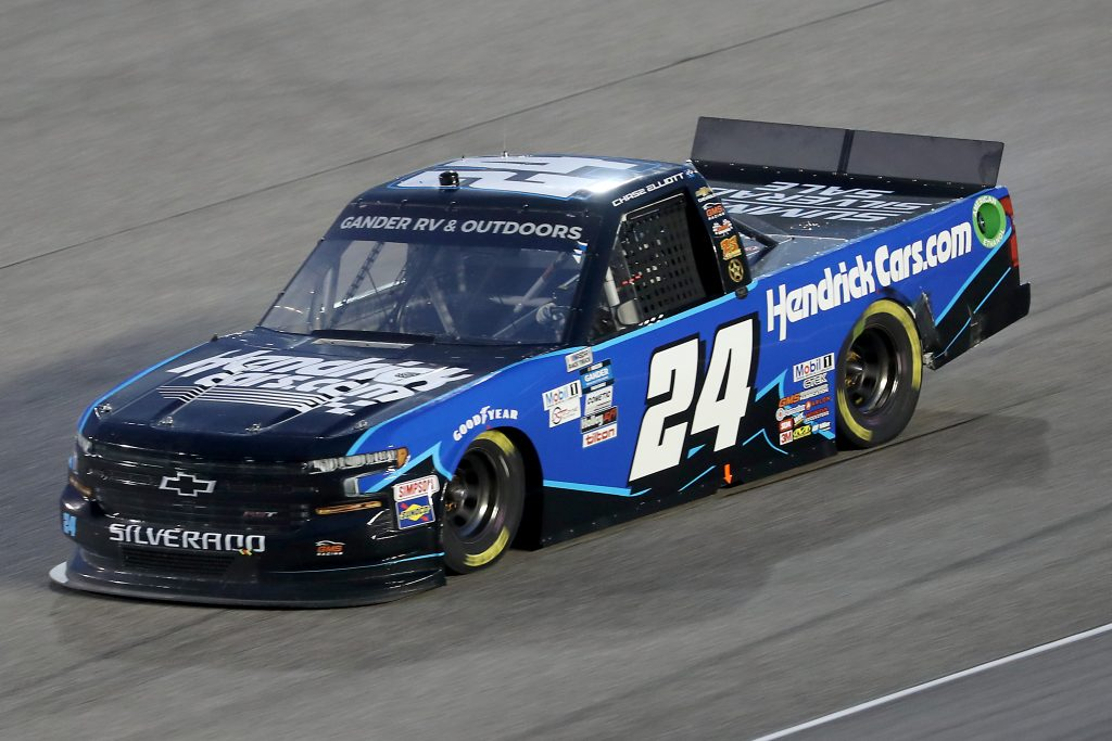 HOMESTEAD, FLORIDA - JUNE 13: Chase Elliott, driver of the #24 Chevrolet, races during the NASCAR Gander RV & Outdoors Truck Series Baptist Health 200 at Homestead-Miami Speedway on June 13, 2020 in Homestead, Florida. (Photo by Chris Graythen/Getty Images) | Getty Images