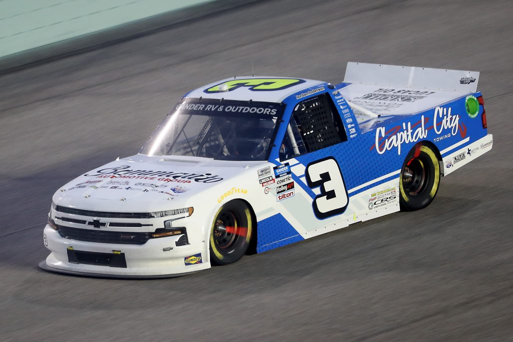 HOMESTEAD, FLORIDA - JUNE 13: Jordan Anderson, driver of the #3 Bommarito.com/Lucas Oil Chevrolet, races during the NASCAR Gander RV & Outdoors Truck Series Baptist Health 200 at Homestead-Miami Speedway on June 13, 2020 in Homestead, Florida. (Photo by Chris Graythen/Getty Images) | Getty Images