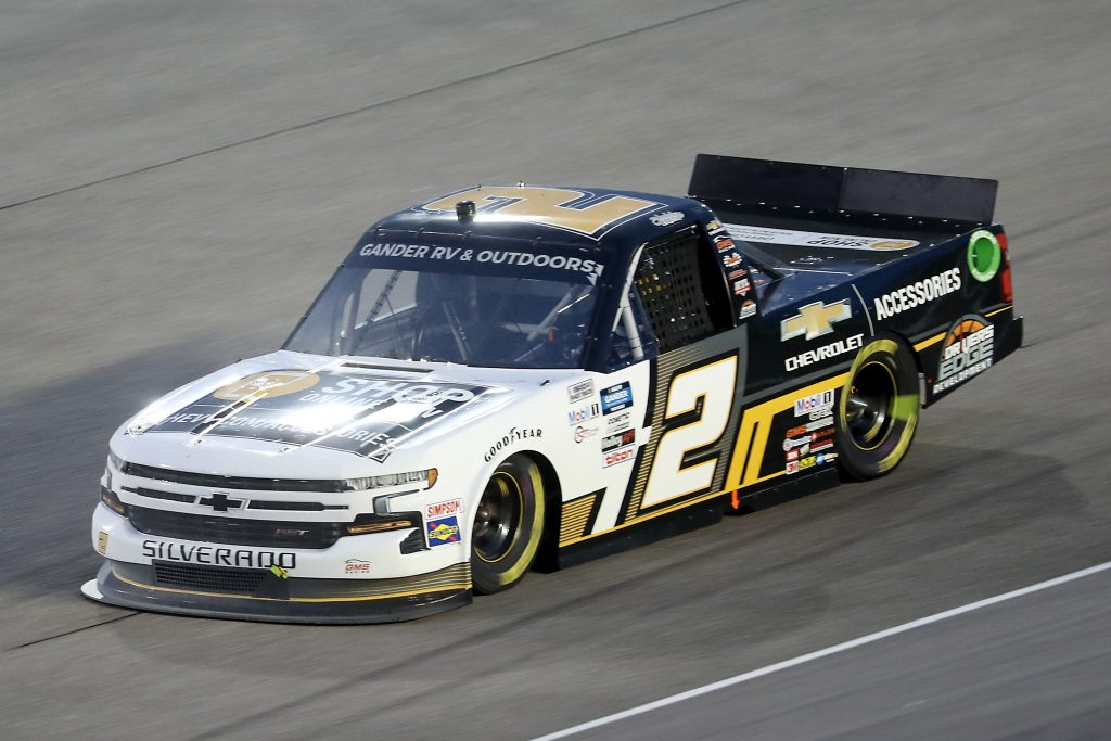 HOMESTEAD, FLORIDA - JUNE 13: Sheldon Creed, driver of the #2 Chevy Truck Month Chevrolet, races during the NASCAR Gander RV & Outdoors Truck Series Baptist Health 200 at Homestead-Miami Speedway on June 13, 2020 in Homestead, Florida. (Photo by Chris Graythen/Getty Images) | Getty Images