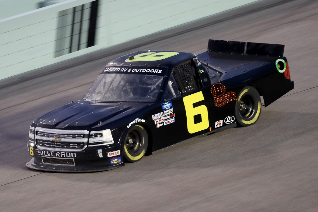 HOMESTEAD, FLORIDA - JUNE 13: Norm Benning, driver of the #6 H & H Transport Chevrolet, races during the NASCAR Gander RV & Outdoors Truck Series Baptist Health 200 at Homestead-Miami Speedway on June 13, 2020 in Homestead, Florida. (Photo by Chris Graythen/Getty Images) | Getty Images