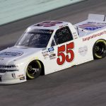 HOMESTEAD, FLORIDA - JUNE 13: Dawson Cram, driver of the #55 Long Motorsports Chevrolet, races during the NASCAR Gander RV & Outdoors Truck Series Baptist Health 200 at Homestead-Miami Speedway on June 13, 2020 in Homestead, Florida. (Photo by Chris Graythen/Getty Images) | Getty Images