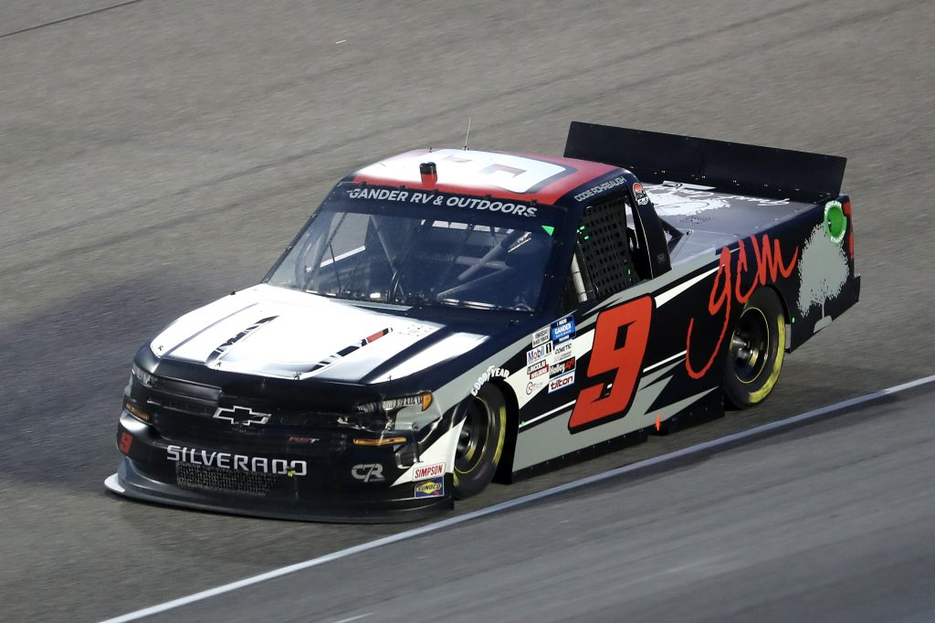 HOMESTEAD, FLORIDA - JUNE 13: Codie Rohrbaugh, driver of the #9 Grant County Mulch Chevrolet, races during the NASCAR Gander RV & Outdoors Truck Series Baptist Health 200 at Homestead-Miami Speedway on June 13, 2020 in Homestead, Florida. (Photo by Chris Graythen/Getty Images) | Getty Images