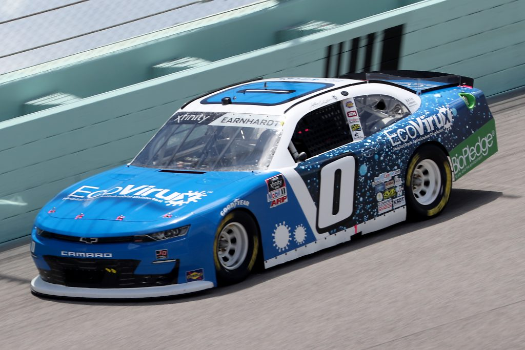 HOMESTEAD, FLORIDA - JUNE 14: Jeffrey Earnhardt, driver of the #0 EcoVirux Chevrolet, races during the NASCAR Xfinity Series Contender Boats 250 at Homestead-Miami Speedway on June 14, 2020 in Homestead, Florida. (Photo by Chris Graythen/Getty Images) | Getty Images