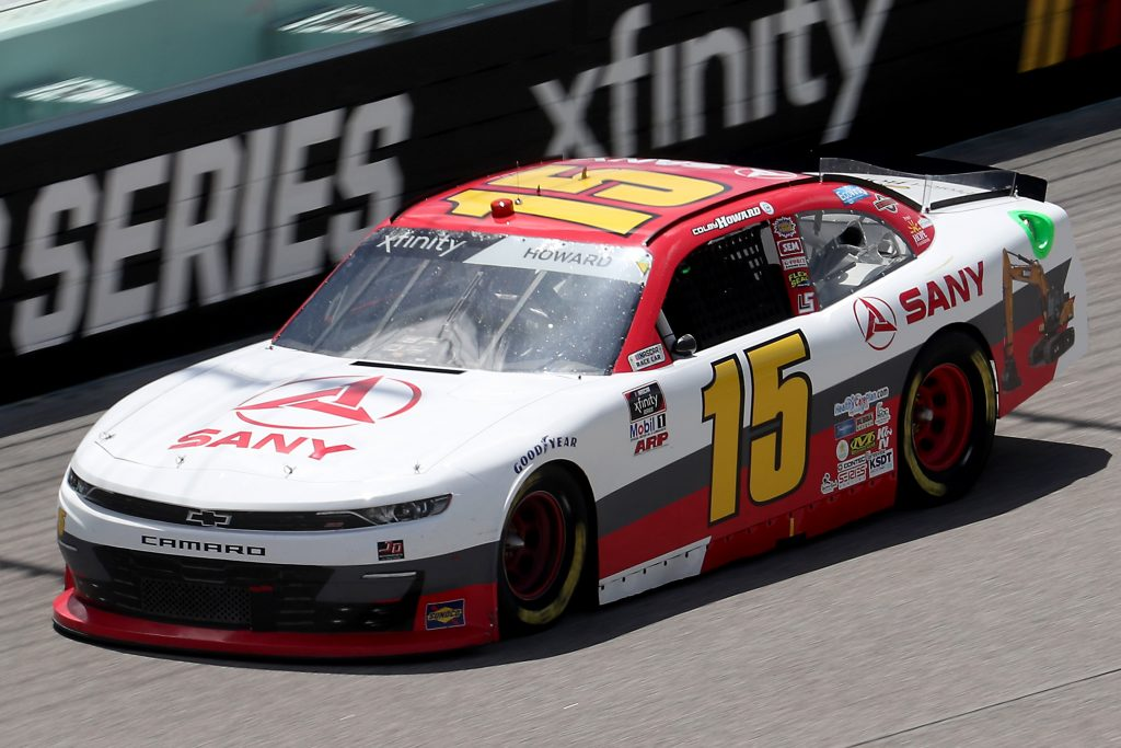 HOMESTEAD, FLORIDA - JUNE 14: Colby Howard, driver of the #15 SANY America Chevrolet, races during the NASCAR Xfinity Series Contender Boats 250 at Homestead-Miami Speedway on June 14, 2020 in Homestead, Florida. (Photo by Chris Graythen/Getty Images) | Getty Images