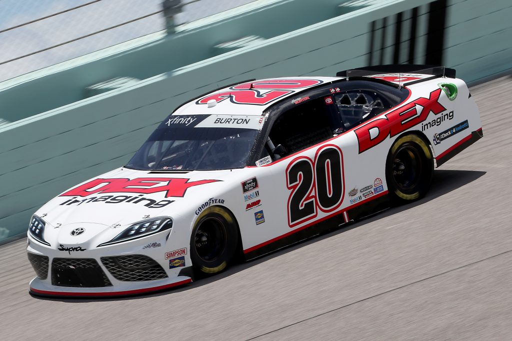 HOMESTEAD, FLORIDA - JUNE 14: Harrison Burton, driver of the #20 DEX Imaging Toyota, races during the NASCAR Xfinity Series Contender Boats 250 at Homestead-Miami Speedway on June 14, 2020 in Homestead, Florida. (Photo by Chris Graythen/Getty Images) | Getty Images