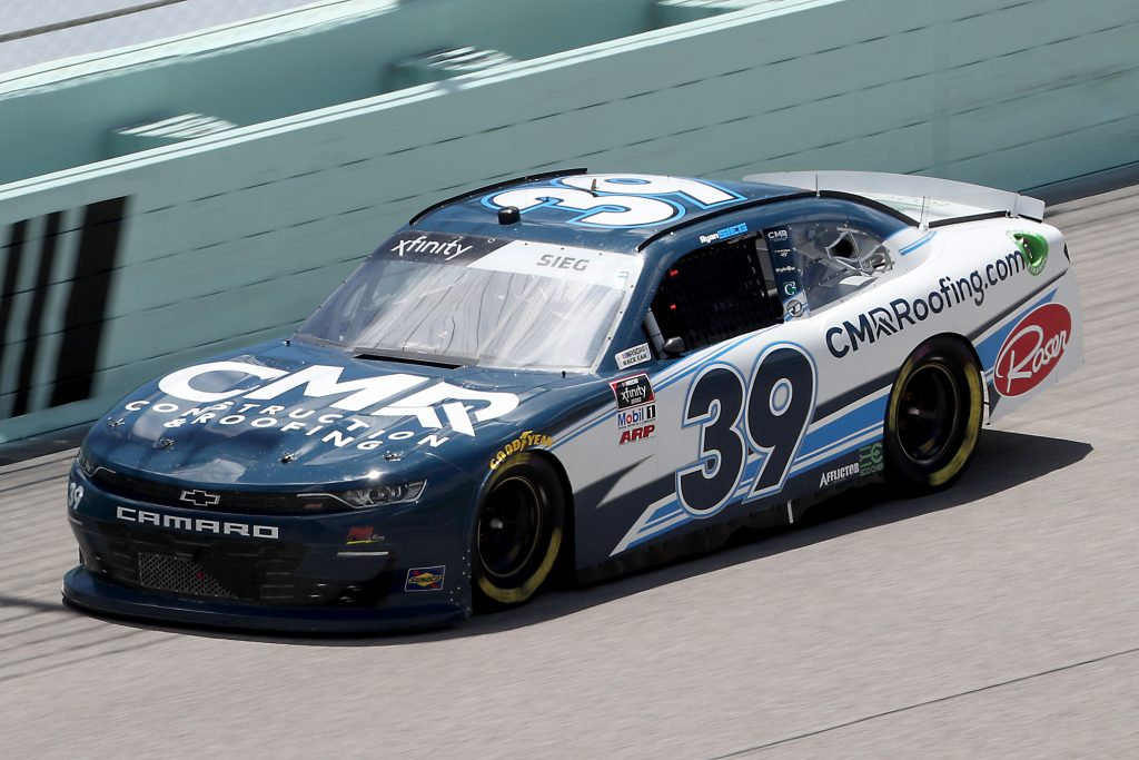 HOMESTEAD, FLORIDA - JUNE 14: Ryan Sieg, driver of the #39 CMRRoofing.com Chevrolet, races during the NASCAR Xfinity Series Contender Boats 250 at Homestead-Miami Speedway on June 14, 2020 in Homestead, Florida. (Photo by Chris Graythen/Getty Images) | Getty Images