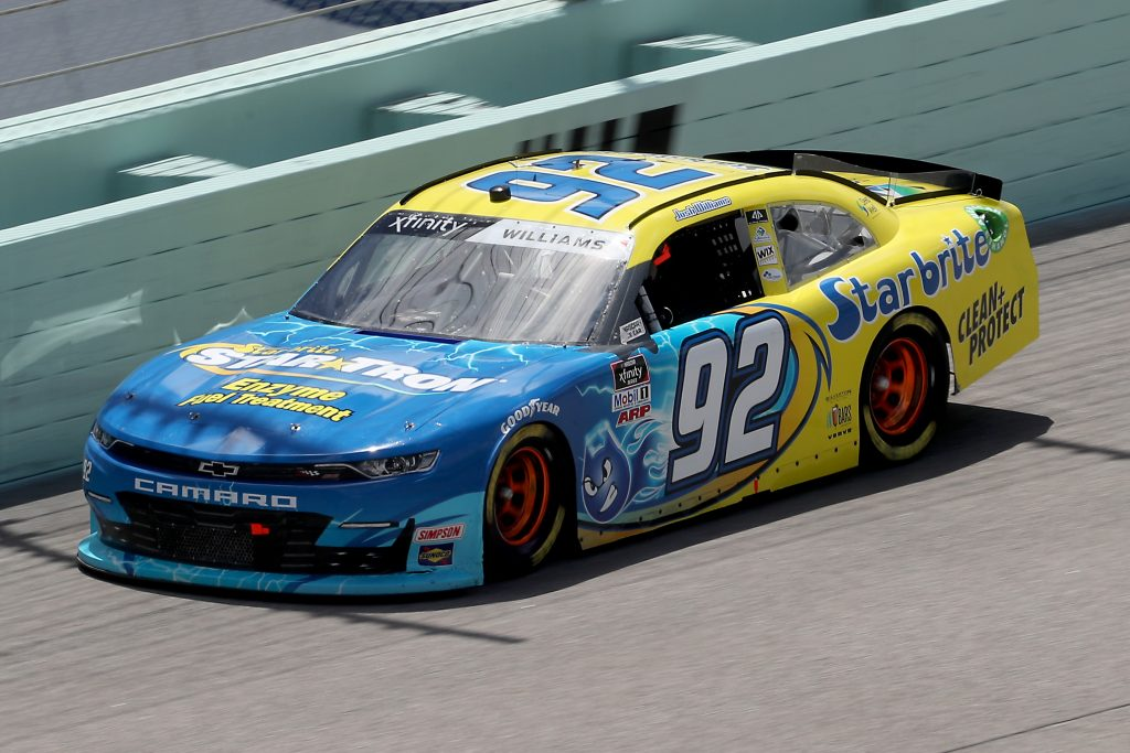 HOMESTEAD, FLORIDA - JUNE 14: Josh Williams, driver of the #92 Starbrite/Star Tron Chevrolet, races during the NASCAR Xfinity Series Contender Boats 250 at Homestead-Miami Speedway on June 14, 2020 in Homestead, Florida. (Photo by Chris Graythen/Getty Images) | Getty Images