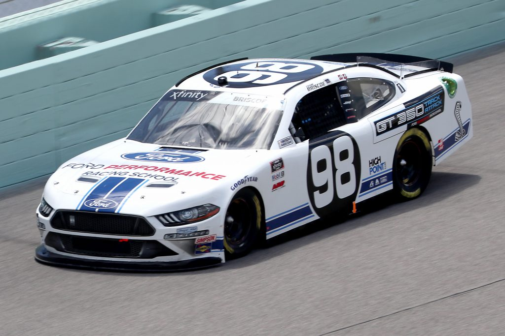 HOMESTEAD, FLORIDA - JUNE 14: Chase Briscoe, driver of the #98 Ford Performance Racing School Ford, races during the NASCAR Xfinity Series Contender Boats 250 at Homestead-Miami Speedway on June 14, 2020 in Homestead, Florida. (Photo by Chris Graythen/Getty Images) | Getty Images