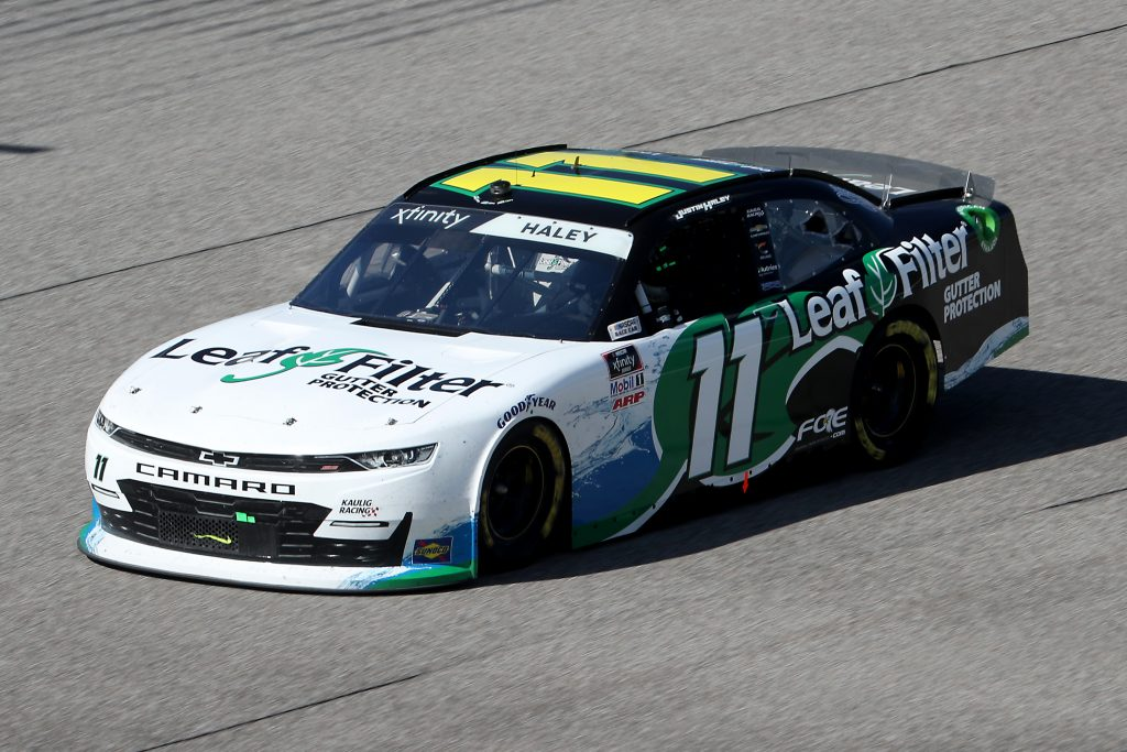 HOMESTEAD, FLORIDA - JUNE 13: Justin Haley, driver of the #11 LeafFilter Gutter Protection Chevrolet, races during the NASCAR Xfinity Series Hooters 250 at Homestead-Miami Speedway on June 13, 2020 in Homestead, Florida. (Photo by Chris Graythen/Getty Images) | Getty Images