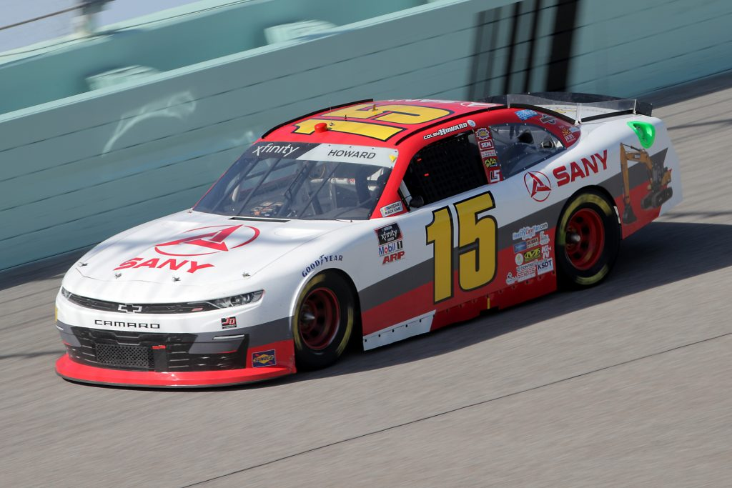HOMESTEAD, FLORIDA - JUNE 13: Colby Howard, driver of the #15 SANY America Chevrolet, races during the NASCAR Xfinity Series Hooters 250 at Homestead-Miami Speedway on June 13, 2020 in Homestead, Florida. (Photo by Chris Graythen/Getty Images)   Getty Images