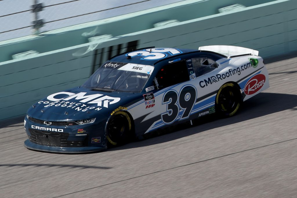 HOMESTEAD, FLORIDA - JUNE 13: Ryan Sieg, driver of the #39 CMRRoofing.com Chevrolet, races during the NASCAR Xfinity Series Hooters 250 at Homestead-Miami Speedway on June 13, 2020 in Homestead, Florida. (Photo by Chris Graythen/Getty Images) | Getty Images