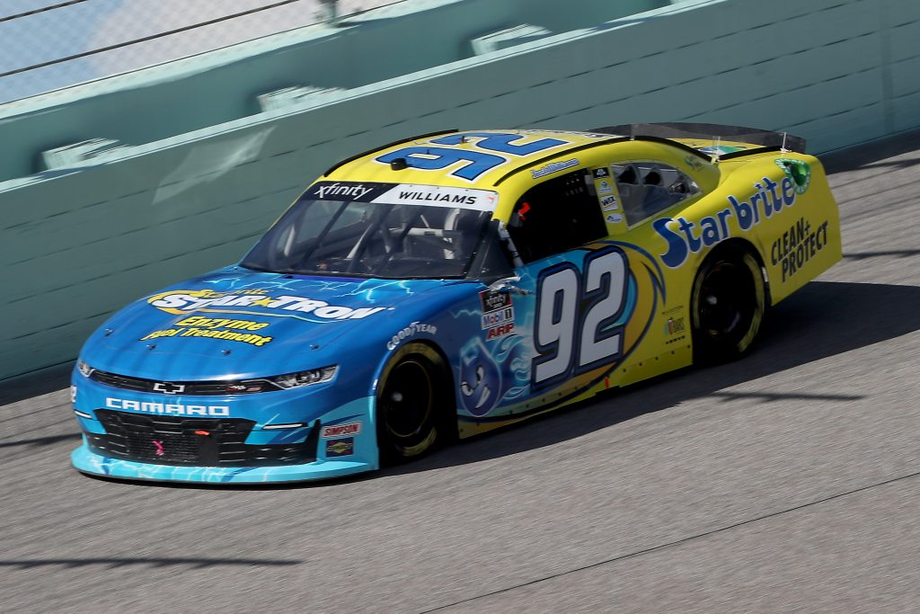 HOMESTEAD, FLORIDA - JUNE 13: Josh Williams, driver of the #92 Starbrite/Star Tron Chevrolet, races during the NASCAR Xfinity Series Hooters 250 at Homestead-Miami Speedway on June 13, 2020 in Homestead, Florida. (Photo by Chris Graythen/Getty Images) | Getty Images