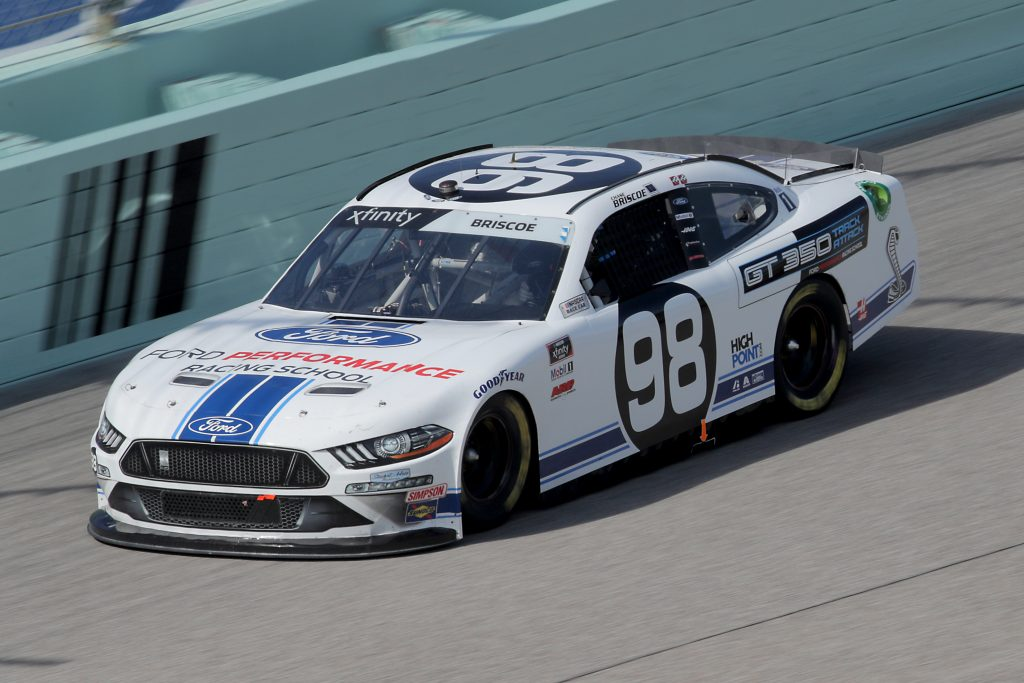 HOMESTEAD, FLORIDA - JUNE 13: Chase Briscoe, driver of the #98 Ford Performance Racing School Ford, races during the NASCAR Xfinity Series Hooters 250 at Homestead-Miami Speedway on June 13, 2020 in Homestead, Florida. (Photo by Chris Graythen/Getty Images) | Getty Images