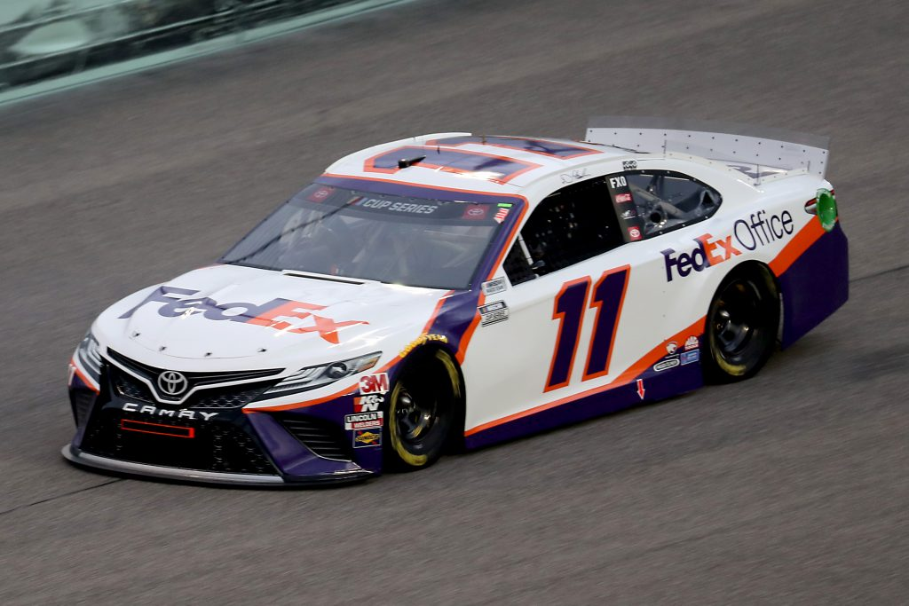 HOMESTEAD, FLORIDA - JUNE 14: Denny Hamlin, driver of the #11 Toyota, races during the NASCAR Cup Series Dixie Vodka 400 at Homestead-Miami Speedway on June 14, 2020 in Homestead, Florida. (Photo by Chris Graythen/Getty Images) | Getty Images