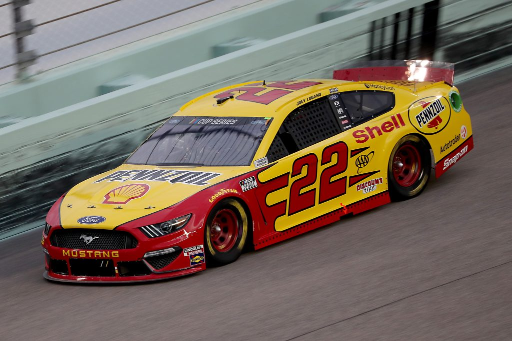 HOMESTEAD, FLORIDA - JUNE 14: Joey Logano, driver of the #22 Shell Pennzoil Ford, races during the NASCAR Cup Series Dixie Vodka 400 at Homestead-Miami Speedway on June 14, 2020 in Homestead, Florida. (Photo by Chris Graythen/Getty Images) | Getty Images