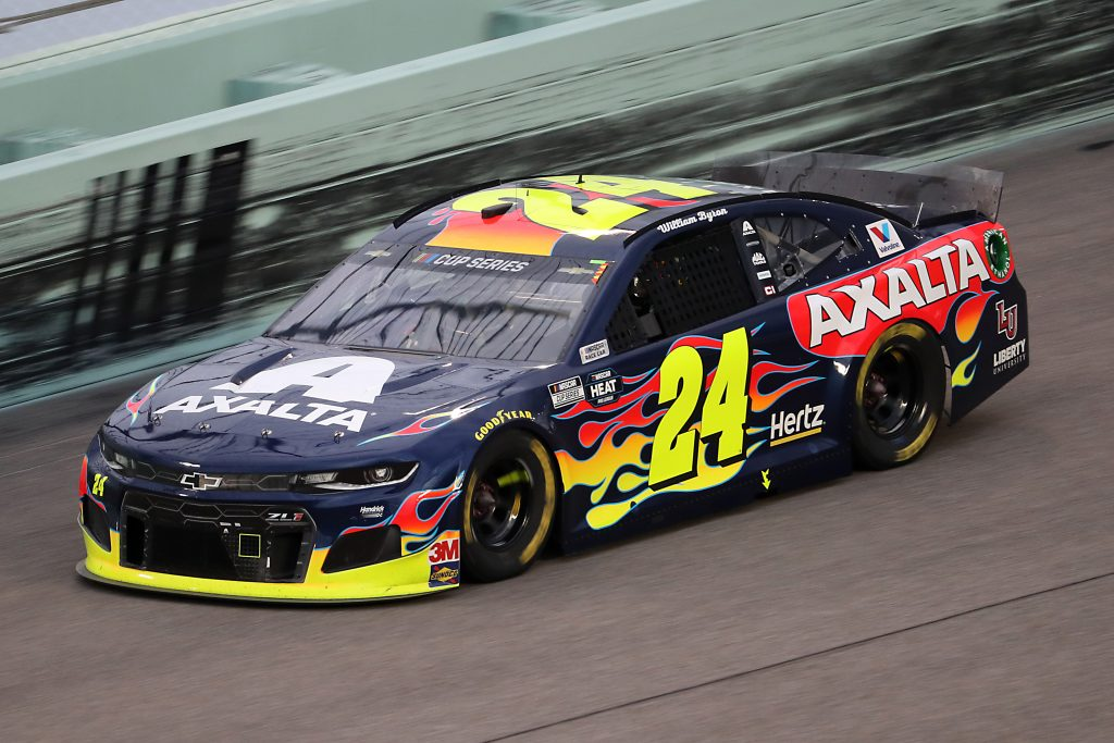 HOMESTEAD, FLORIDA - JUNE 14: William Byron, driver of the #24 Chevrolet, races during the NASCAR Cup Series Dixie Vodka 400 at Homestead-Miami Speedway on June 14, 2020 in Homestead, Florida. (Photo by Chris Graythen/Getty Images) | Getty Images