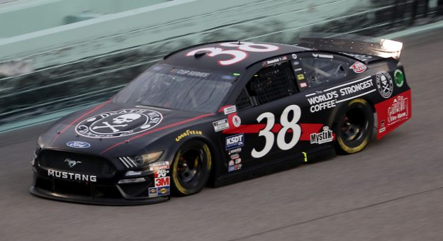 HOMESTEAD, FLORIDA - JUNE 14: John Hunter Nemechek, driver of the #38 Death Wish Coffee Ford, races during the NASCAR Cup Series Dixie Vodka 400 at Homestead-Miami Speedway on June 14, 2020 in Homestead, Florida. (Photo by Chris Graythen/Getty Images)   Getty Images