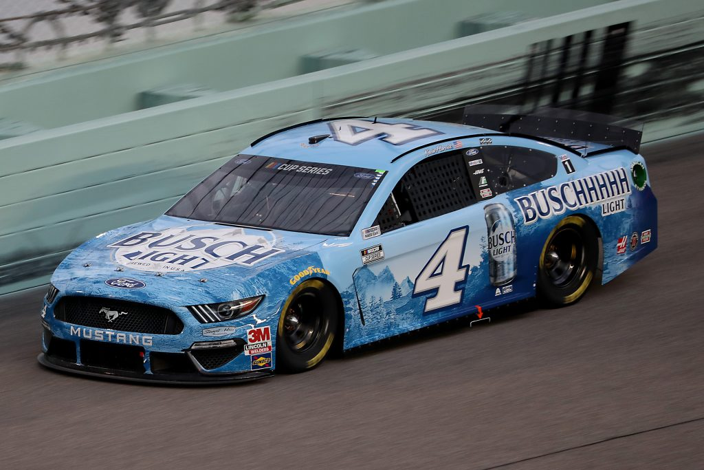 HOMESTEAD, FLORIDA - JUNE 14: Kevin Harvick, driver of the #4 Busch Light Ford, races during the NASCAR Cup Series Dixie Vodka 400 at Homestead-Miami Speedway on June 14, 2020 in Homestead, Florida. (Photo by Chris Graythen/Getty Images) | Getty Images