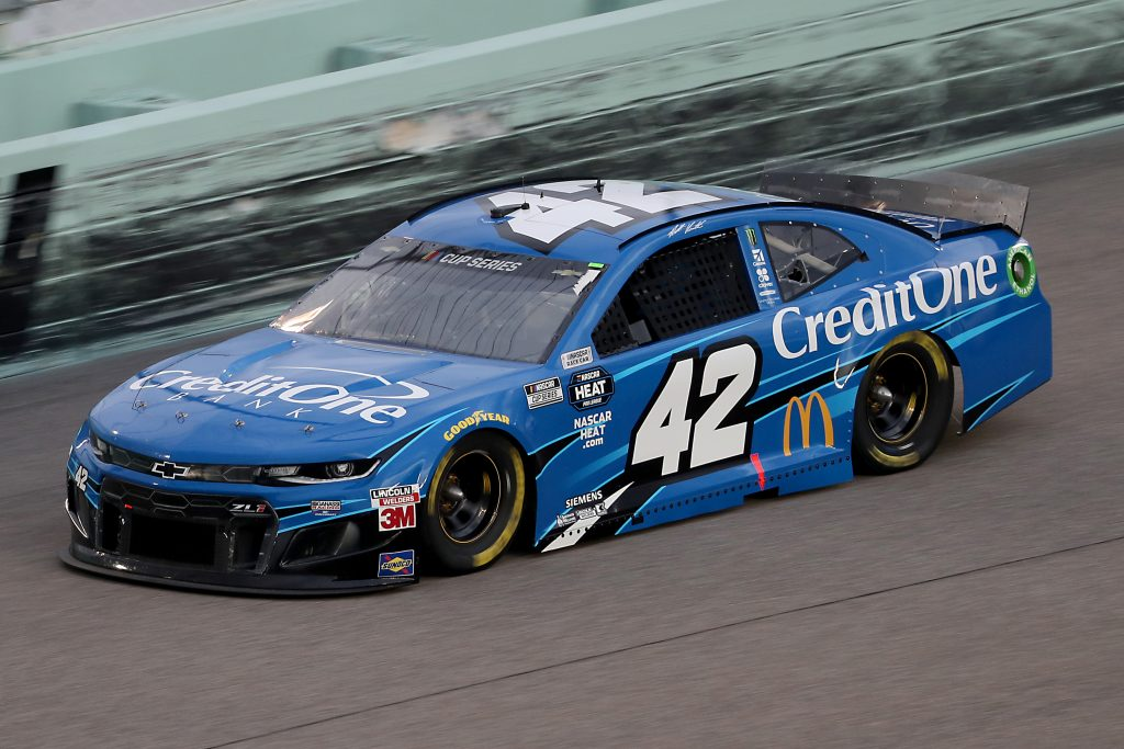 HOMESTEAD, FLORIDA - JUNE 14: Matt Kenseth, driver of the #42 Credit One Bank Chevrolet, races during the NASCAR Cup Series Dixie Vodka 400 at Homestead-Miami Speedway on June 14, 2020 in Homestead, Florida. (Photo by Chris Graythen/Getty Images) | Getty Images