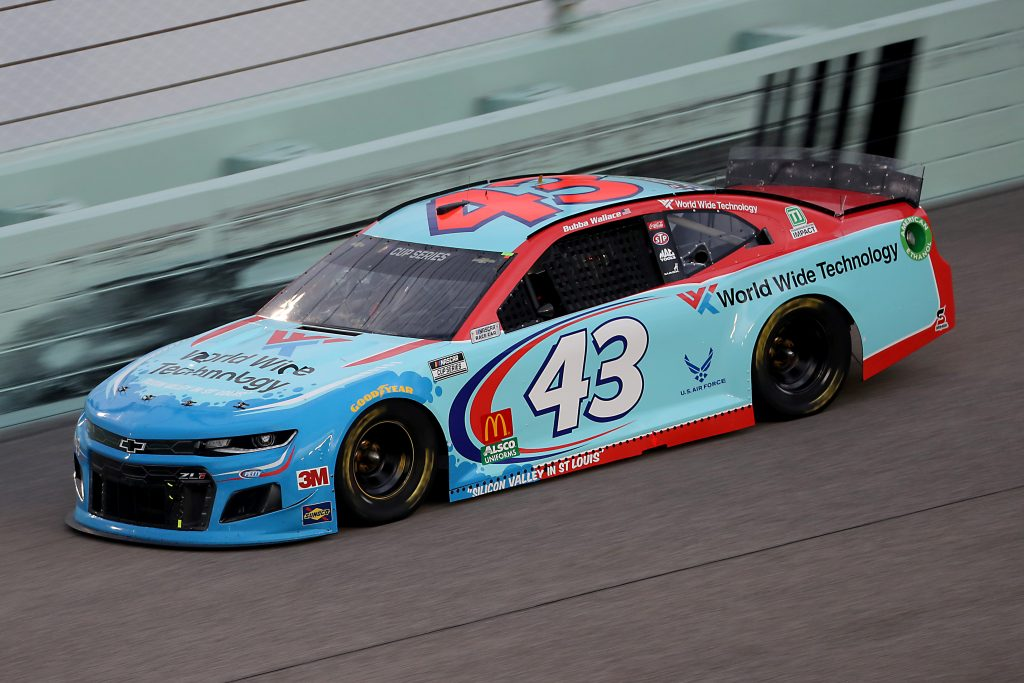 HOMESTEAD, FLORIDA - JUNE 14: Bubba Wallace, driver of the #43 World Wide Technology Chevrolet, races during the NASCAR Cup Series Dixie Vodka 400 at Homestead-Miami Speedway on June 14, 2020 in Homestead, Florida. (Photo by Chris Graythen/Getty Images) | Getty Images