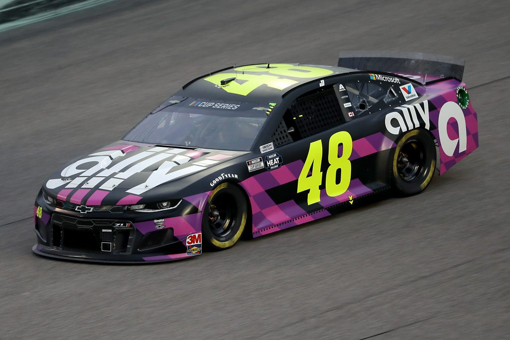 HOMESTEAD, FLORIDA - JUNE 14: Jimmie Johnson, driver of the #48 Ally Chevrolet, during the NASCAR Cup Series Dixie Vodka 400 at Homestead-Miami Speedway on June 14, 2020 in Homestead, Florida. (Photo by Chris Graythen/Getty Images) | Getty Images