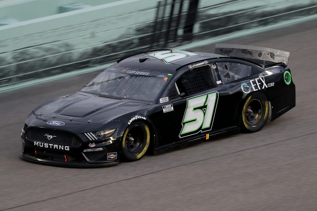 HOMESTEAD, FLORIDA - JUNE 14: Joey Gase, driver of the #51 Petty Ware Racing Ford, races during the NASCAR Cup Series Dixie Vodka 400 at Homestead-Miami Speedway on June 14, 2020 in Homestead, Florida. (Photo by Chris Graythen/Getty Images) | Getty Images