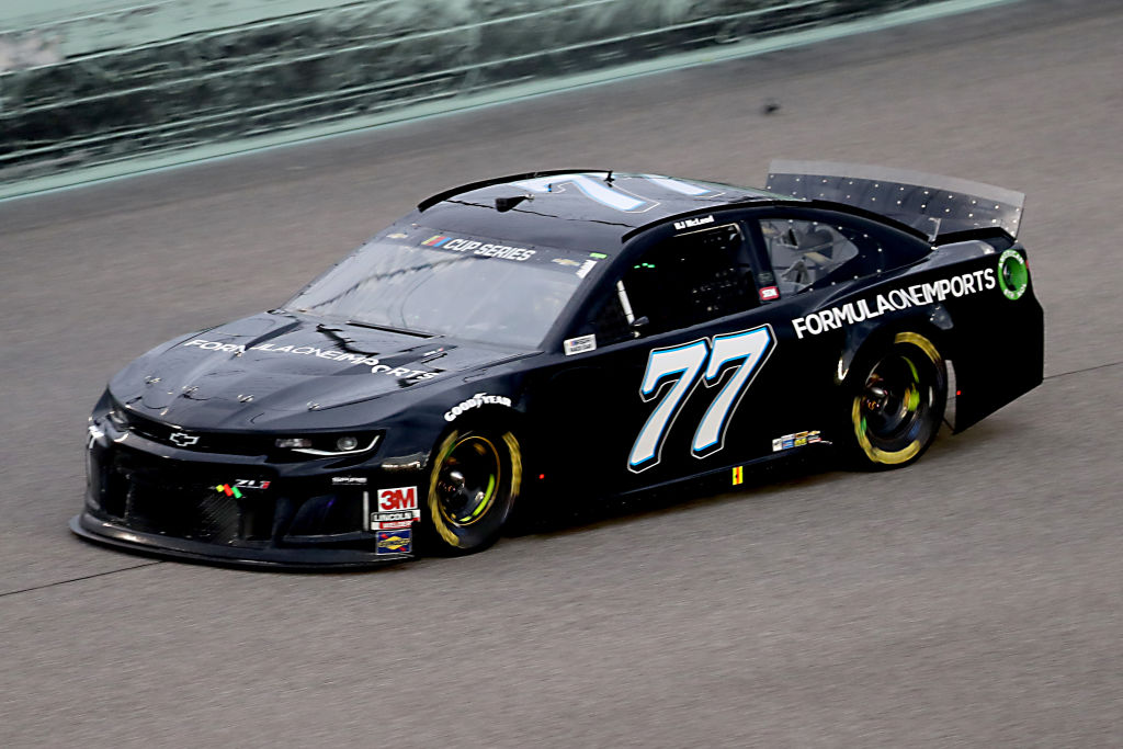HOMESTEAD, FLORIDA - JUNE 14: BJ McLeod, driver of the #77 Formula One Imports Chevrolet, races during the NASCAR Cup Series Dixie Vodka 400 at Homestead-Miami Speedway on June 14, 2020 in Homestead, Florida. (Photo by Chris Graythen/Getty Images) | Getty Images
