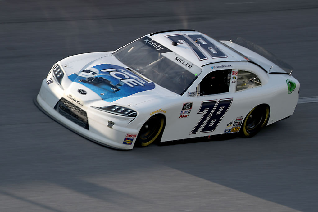 TALLADEGA, ALABAMA - JUNE 20: Vinnie Miller, driver of the #78 Koolbox Chevrolet, drives during the NASCAR Xfinity Series Unhinged 300 at Talladega Superspeedway on June 20, 2020 in Talladega, Alabama. (Photo by Chris Graythen/Getty Images) | Getty Images