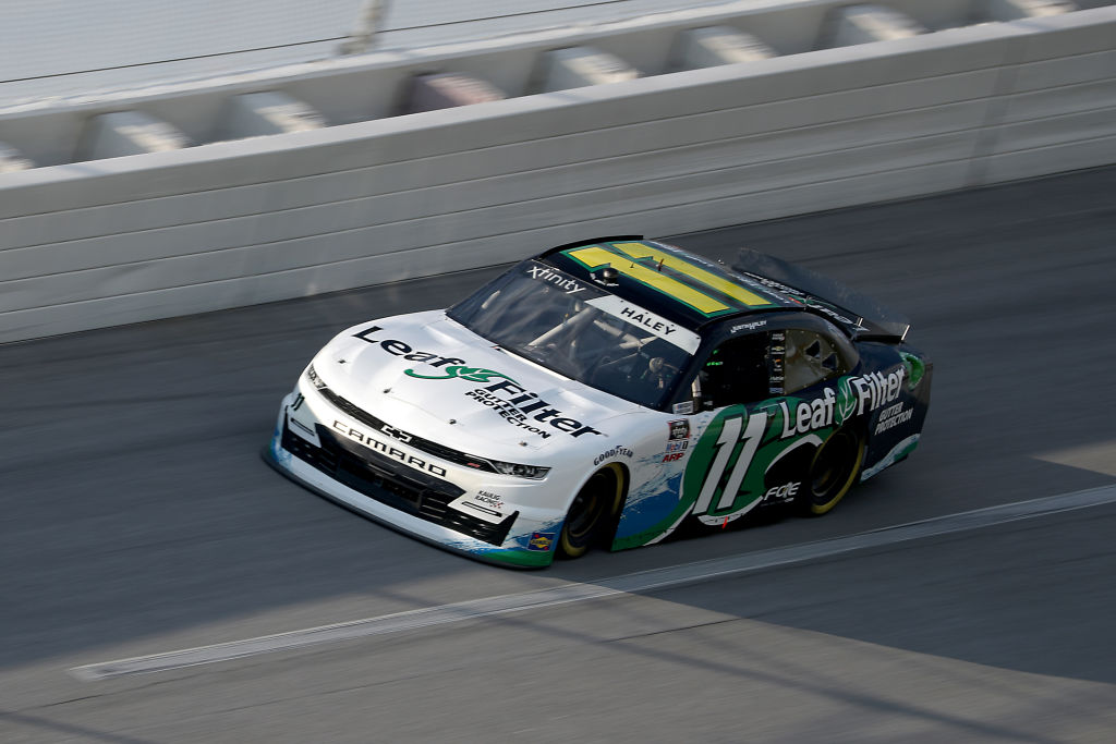 TALLADEGA, ALABAMA - JUNE 20: Justin Haley, driver of the #11 LeafFilter Gutter Protection Chevrolet, drives during the NASCAR Xfinity Series Unhinged 300 at Talladega Superspeedway on June 20, 2020 in Talladega, Alabama. (Photo by Chris Graythen/Getty Images) | Getty Images