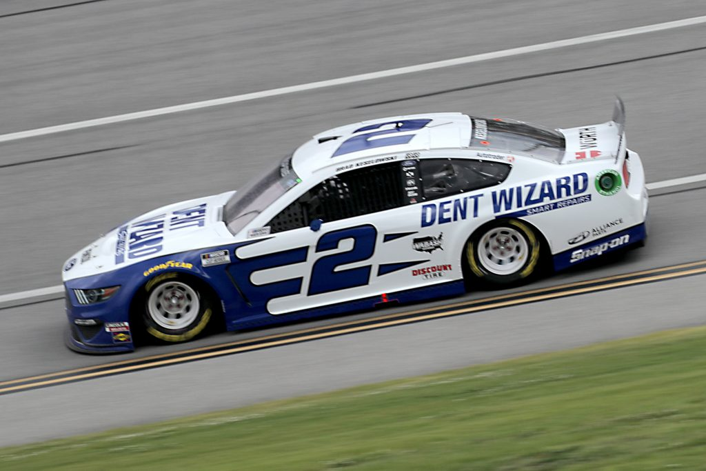 TALLADEGA, ALABAMA - JUNE 22: Brad Keselowski, driver of the #2 Dent Wizard Ford, drives during the NASCAR Cup Series GEICO 500 at Talladega Superspeedway on June 22, 2020 in Talladega, Alabama. (Photo by Chris Graythen/Getty Images) | Getty Images