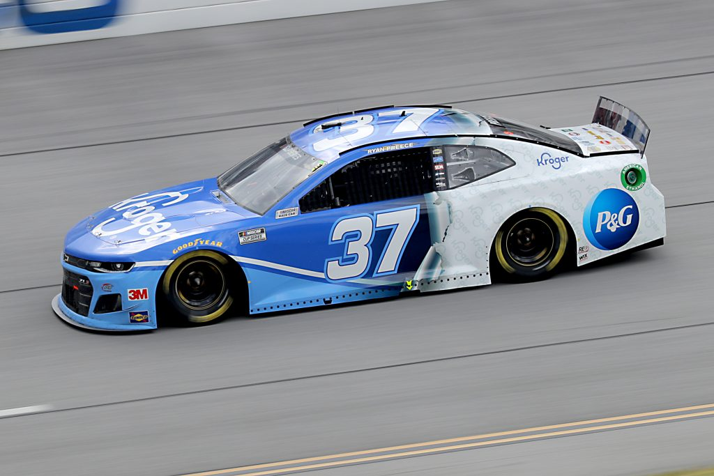 TALLADEGA, ALABAMA - JUNE 22: Ryan Preece, driver of the #37 Kroger Chevrolet, drives during the NASCAR Cup Series GEICO 500 at Talladega Superspeedway on June 22, 2020 in Talladega, Alabama. (Photo by Chris Graythen/Getty Images) | Getty Images