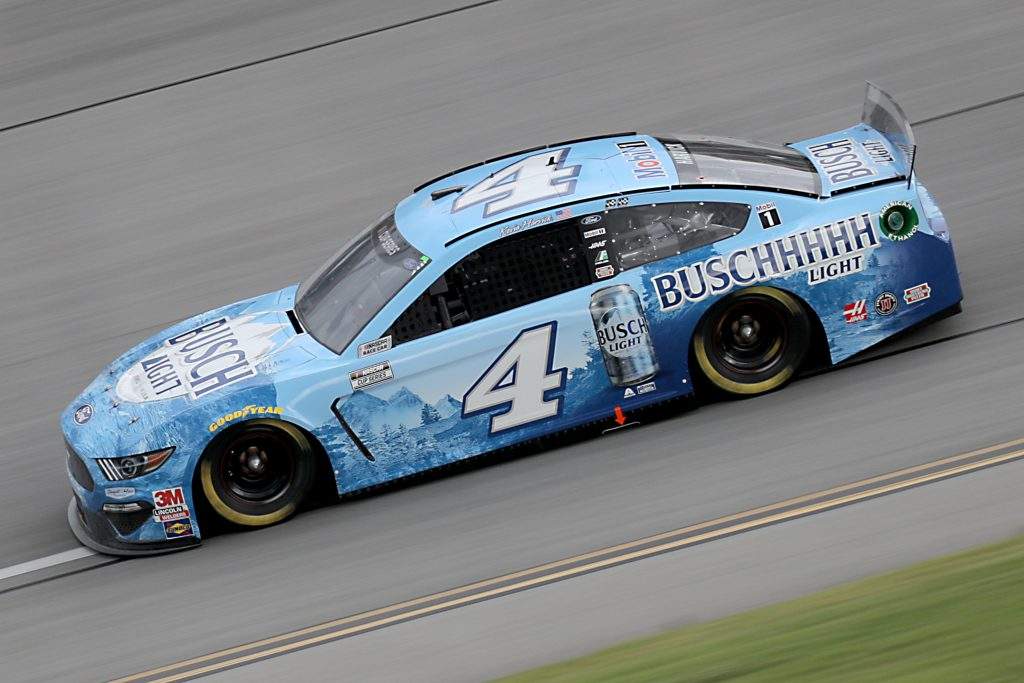 TALLADEGA, ALABAMA - JUNE 22: Kevin Harvick, driver of the #4 Busch Light Ford, drives during the NASCAR Cup Series GEICO 500 at Talladega Superspeedway on June 22, 2020 in Talladega, Alabama. (Photo by Chris Graythen/Getty Images) | Getty Images
