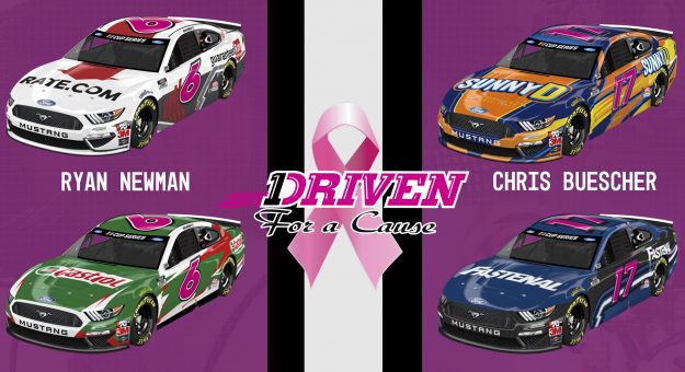 Roush Fenway Pink Numbers