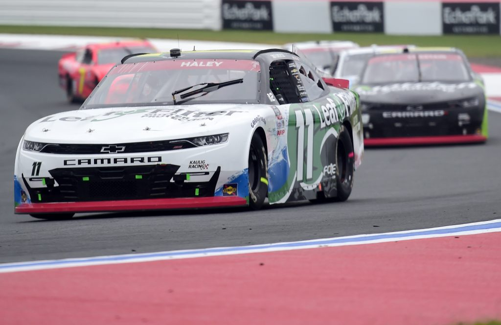 CONCORD, NORTH CAROLINA - OCTOBER 10: Justin Haley, driver of the #11 LeafFilter Gutter Protection Chevrolet, drives during the NASCAR Xfinity Series Drive for the Cure 250 presented by Blue Cross Blue Shield of North Carolina at Charlotte Motor Speedway on October 10, 2020 in Concord, North Carolina. (Photo by Jared C. Tilton/Getty Images) | Getty Images