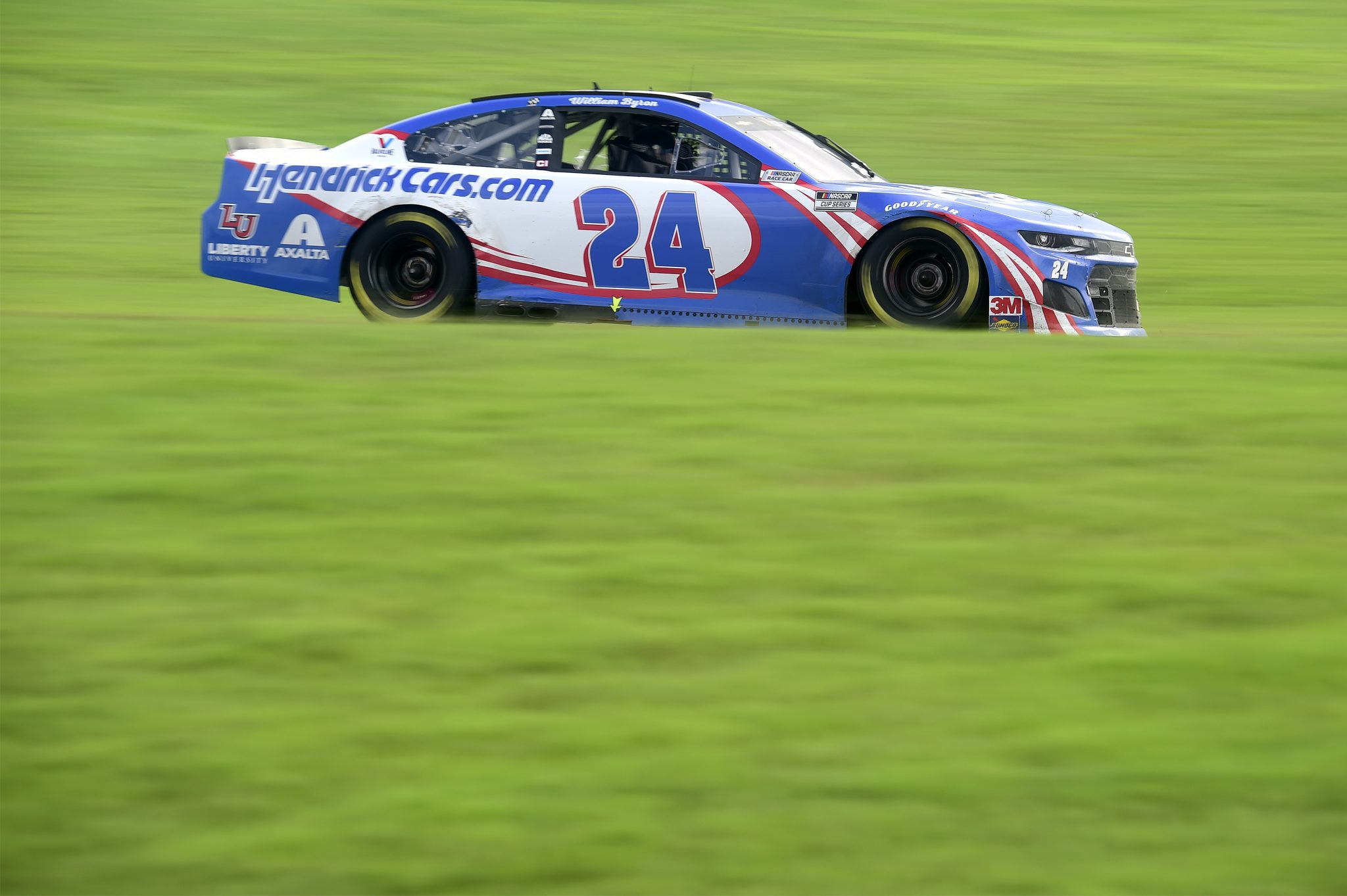 CONCORD, NORTH CAROLINA - OCTOBER 11: William Byron, driver of the #24 Hendrickcars.com Chevrolet, drives during the NASCAR Cup Series Bank of America ROVAL 400 at Charlotte Motor Speedway on October 11, 2020 in Concord, North Carolina. (Photo by Jared C. Tilton/Getty Images) | Getty Images
