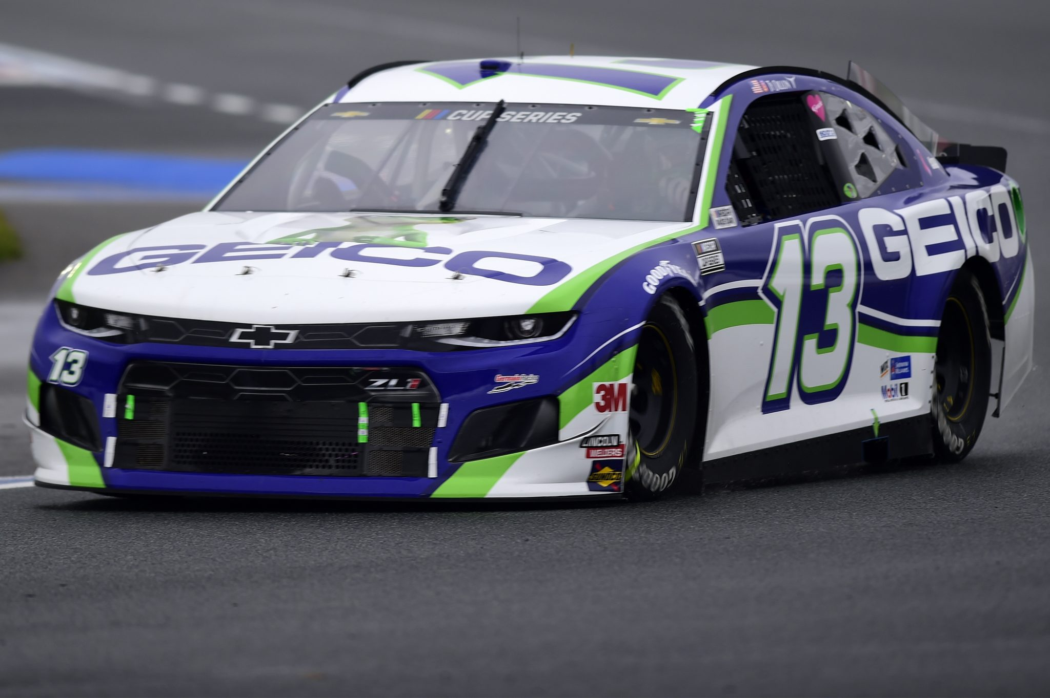 CONCORD, NORTH CAROLINA - OCTOBER 11: Ty Dillon, driver of the #13 GEICO Chevrolet, drives during the NASCAR Cup Series Bank of America ROVAL 400 at Charlotte Motor Speedway on October 11, 2020 in Concord, North Carolina. (Photo by Jared C. Tilton/Getty Images) | Getty Images