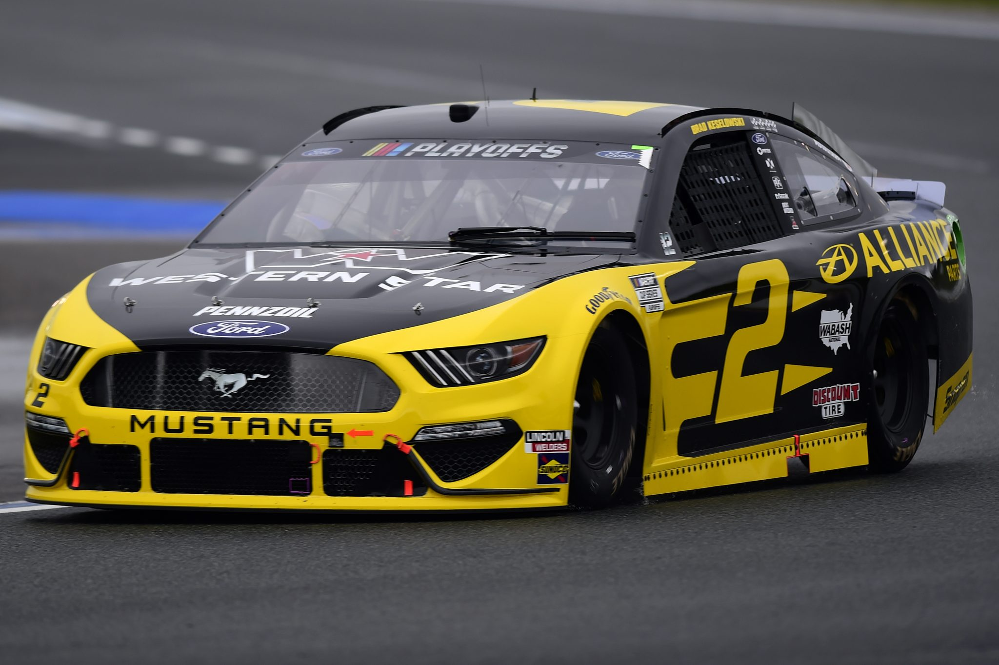 CONCORD, NORTH CAROLINA - OCTOBER 11: Brad Keselowski, driver of the #2 Western Star/Alliance Parts Ford, drives during the NASCAR Cup Series Bank of America ROVAL 400 at Charlotte Motor Speedway on October 11, 2020 in Concord, North Carolina. (Photo by Jared C. Tilton/Getty Images) | Getty Images