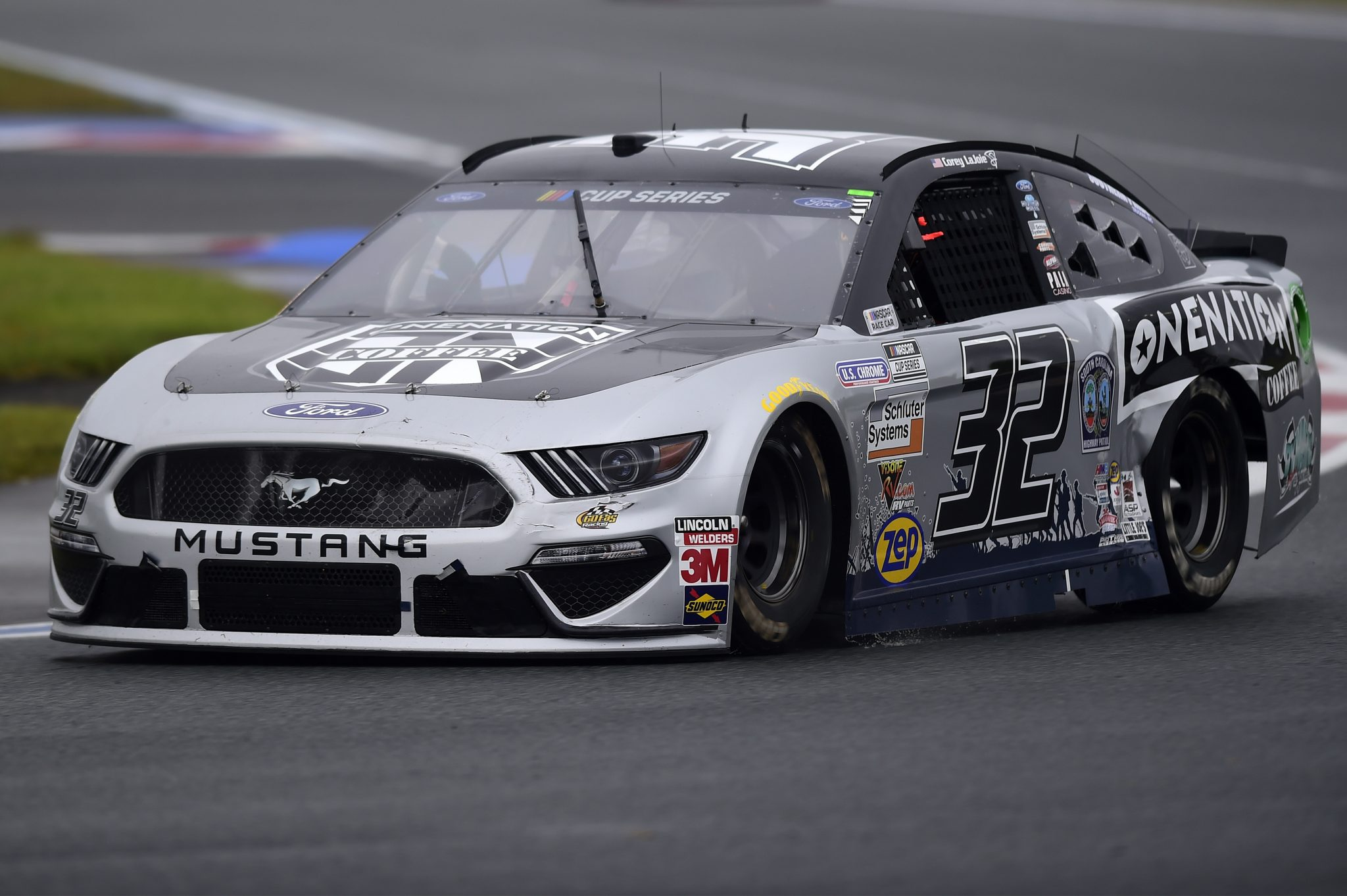 CONCORD, NORTH CAROLINA - OCTOBER 11: Corey LaJoie, driver of the #32 OneNation Coffee Ford, drives during the NASCAR Cup Series Bank of America ROVAL 400 at Charlotte Motor Speedway on October 11, 2020 in Concord, North Carolina. (Photo by Jared C. Tilton/Getty Images) | Getty Images