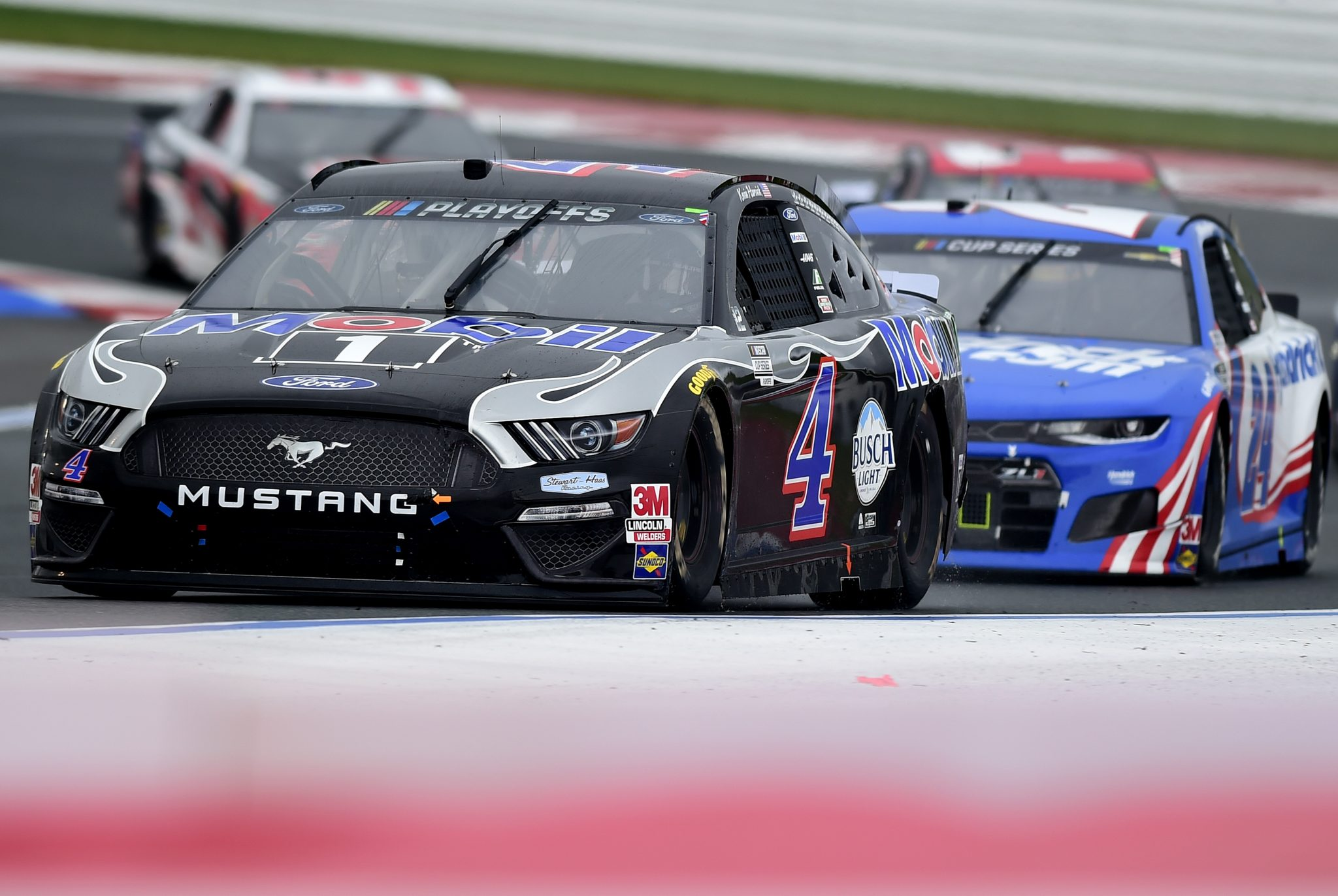CONCORD, NORTH CAROLINA - OCTOBER 11: Kevin Harvick, driver of the #4 Mobil 1 Ford, drives during the NASCAR Cup Series Bank of America ROVAL 400 at Charlotte Motor Speedway on October 11, 2020 in Concord, North Carolina. (Photo by Jared C. Tilton/Getty Images) | Getty Images
