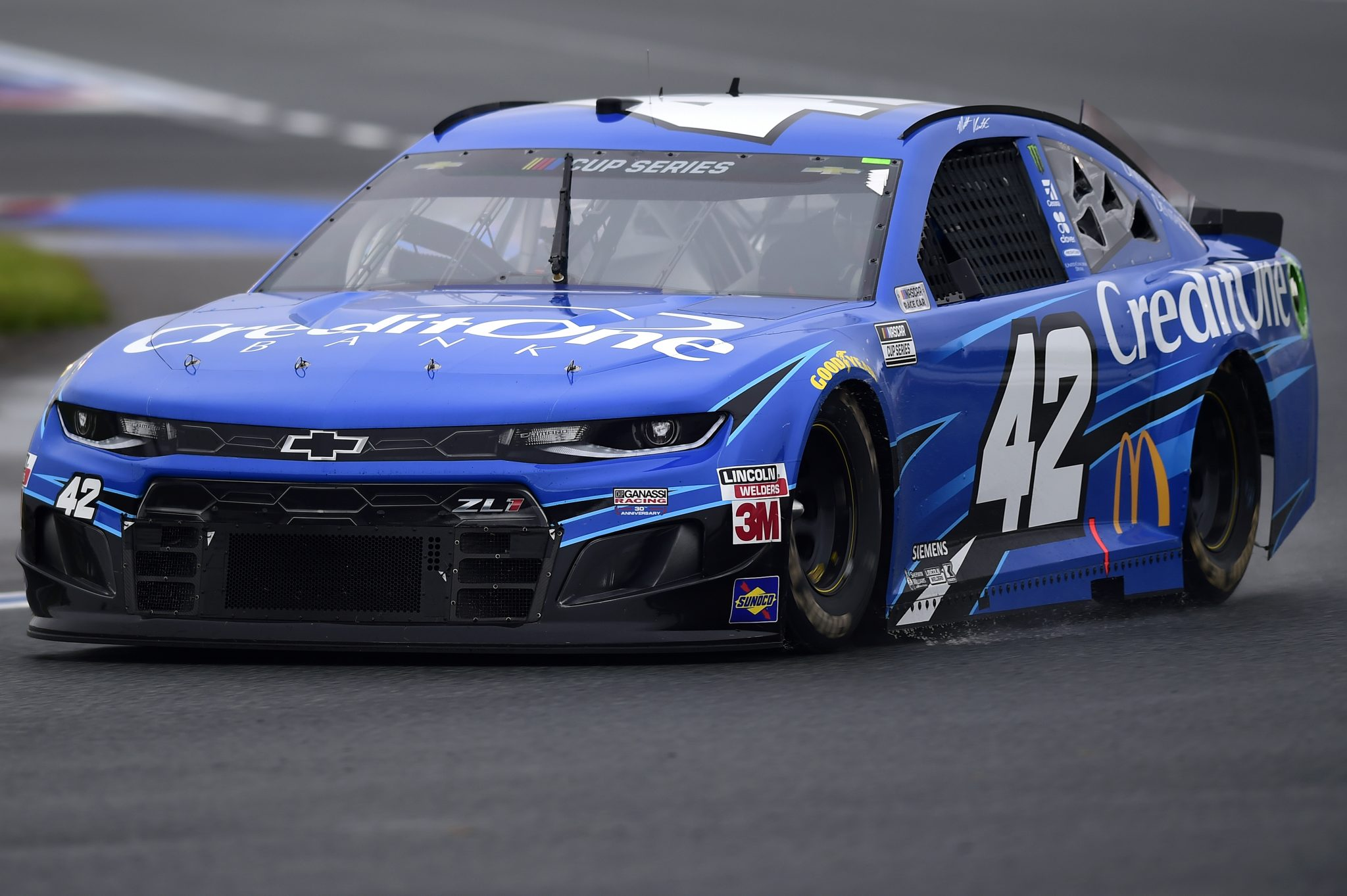 CONCORD, NORTH CAROLINA - OCTOBER 11: Matt Kenseth, driver of the #42 Credit One Bank Chevrolet, drives during the NASCAR Cup Series Bank of America ROVAL 400 at Charlotte Motor Speedway on October 11, 2020 in Concord, North Carolina. (Photo by Jared C. Tilton/Getty Images) | Getty Images