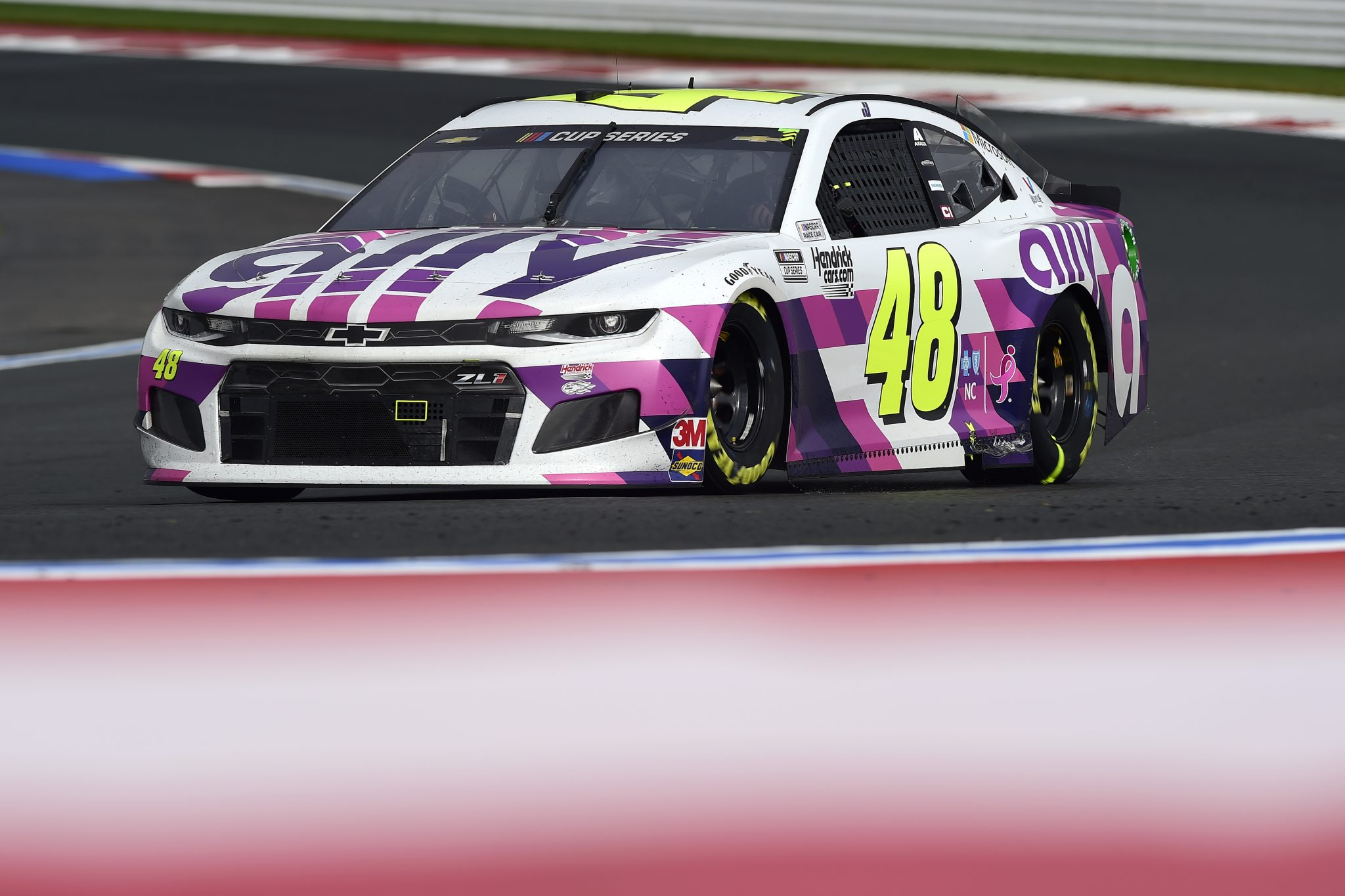 CONCORD, NORTH CAROLINA - OCTOBER 11: Jimmie Johnson, driver of the #48 Ally Chevrolet, drives during the NASCAR Cup Series Bank of America ROVAL 400 at Charlotte Motor Speedway on October 11, 2020 in Concord, North Carolina. (Photo by Jared C. Tilton/Getty Images) | Getty Images