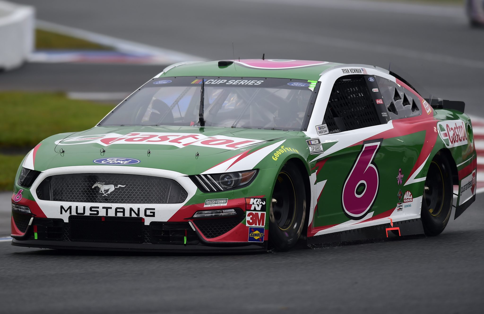 CONCORD, NORTH CAROLINA - OCTOBER 11: Ryan Newman, driver of the #6 Castrol Ford, drives during the NASCAR Cup Series Bank of America ROVAL 400 at Charlotte Motor Speedway on October 11, 2020 in Concord, North Carolina. (Photo by Jared C. Tilton/Getty Images) | Getty Images
